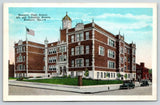 Newport Kentucky~High School at 8th & Columbia Streets~Clock Tower~1920s Cars