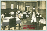 Winona Minnesota~the Sunshine Cafe Interior~Menu on Table~Coat Racks~1913 PC