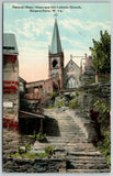 Harpers Ferry West Virginia~Natural Rock Steps @ Old Roman Catholic Church~c1910