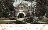 Sandusky Ohio~Soldiers Home Library~Stone Arch Doors & Windows~1908 Postcard