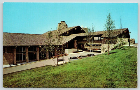 Cambridge (Lore City) Ohio~Salt Fork State Park Lodge~1960s Postcard