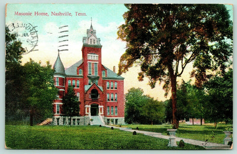 East Nashville Tennessee~Inglewood~Masonic Widows & Orphans Home~c1909 Postcard