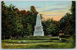 Togus Maine~Civil War Soldiers Monument @ Home~Miniature Flags Surround~1907 PC
