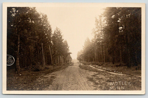 Motley Minnesota~Take the Muddy South Road Out of Town (Route 10?)~1910 RPPC