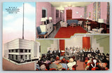 Youngstown Ohio~Radio Station WFMJ~Art Deco Bldg~Live Band~Lounge~1940s Linen