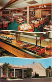 St Petersburg Florida~The Sweden House Smorgasbord~Inside Out~1950s Postcard