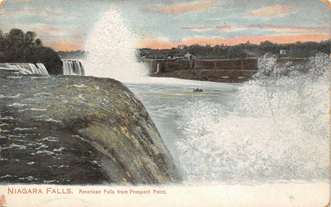 Niagara Falls New York~American Falls From Prospect Point~TUCK 1910 Postcard | Refried Jeans Postcards