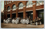 Vancouver BC~Fire Hall Department~Firemen & Chief in Trucks~Kind We Have~1910 PC