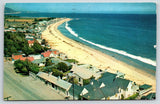 Malibu California~Birdseye Beach Colony Movie Stars Homes~Roadside US 101~1958