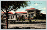 Santa Barbara California~Hueter Mansion~Gorgeous Landscaping~c1910 Postcard