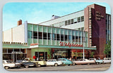 Colorado Springs CO~Downtown Walgreen's Store~First Nat'l Bank~1940-50s Cars