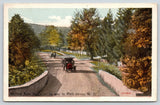 Milford NY~Auto Stage on Gravel Road to Port Jervis New York~1920s Postcard
