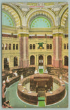 Washington DC~Library of Congress Rotunda~Reading Room~c1910 Postcard