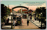 Michigan City Indiana~NICE Vintage c1910 Cars~Brewery, Archway c1908