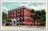 Salina Kansas~Fellow Walks Away From YMCA Building~Vintage Car~1916 Postcard