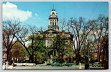Newark Ohio~Licking County Courthouse~Built 1876~Spring Trees~Early 1950s Cars