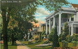 Selma Alabama~Dallas Avenue Homes~Big Houses~Porches~1940s Postcard