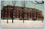 Iowa Falls~Snowy Sleigh Rides~Ellsworth College Women's Bldg Caroline Hall 1910