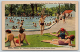 Excelsior Springs Missouri~Maurer Lake Mineral Pool~Bathing Beauties~1945 Linen