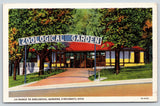 Cincinnati Ohio~Zoological Gardens Light Bulb Sign Entrance~Turnstile~1933 Linen