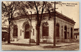 Warren Ohio~New Post Office~Mail Box on Sidewalk~1910 B&W Postcard