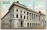 New Orleans LA~Post Office~Globes on top?~Flagless Flagpole~Arches~c1911 PC