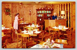 Omaha NE~Hilltop House Restaurant~Wood Paneling~Waitress~49th & Dodge~1960s PC