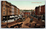 Cork Ireland~St Patrick Street~Double Decker Trolley~Horse Wagons~c1910 Postcard