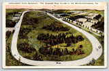 Indianapolis Indiana~500 Motor Speedway Birdseye~Trees in Middle Race Track~1915