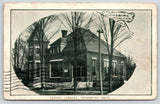 Vicksburg Michigan~Ladies Library Vignette~1909 B&W Postcard