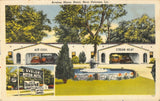 New Orleans LA~Avalon Motor Hotel~Trailer Park~City Map Inside~1940s Linen PC