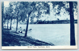 Ypsilanti Michigan~River Park~Rowboats Lined Up on Shore Line~SHARP! c1910