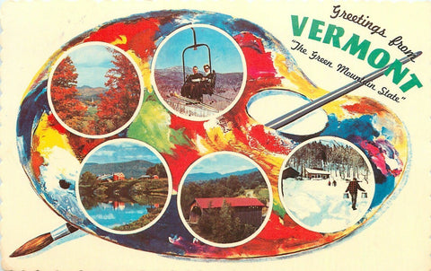 Vermont Palette Greetings~Colors Are Magic and Real~1960s