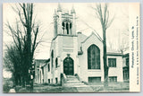 Lyons Iowa~Presbyterian Church Corner~Pershing Blvd~Neighborhood Homes~c1907