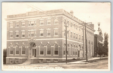 Wenatchee Washington~Back Door is Open to YMCA~3rd Story Dormitories~RPPC 1920s