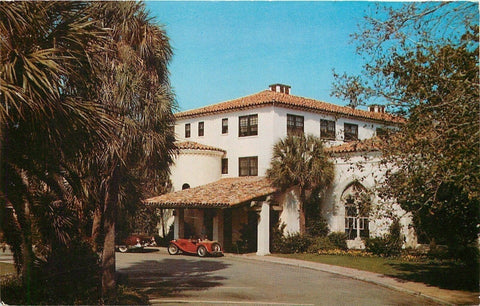 Sea Island Georgia~Sports Car~Entrance To Cloister~Front View~Cars~1960 Postcard | Refried Jeans Postcards