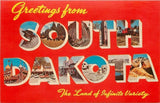 South Dakota~Large Letter Chrome~Streets~Corn Palace~Buildings 1950 Postcard