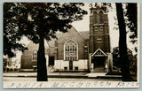Ionia Michigan~United Methodist Episcopal Church~Stained Glass Windows~1910 RPPC