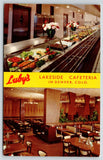 Denver Colorado~Luby's Lakeside Cafeteria Interior~Bishop's Buffet~1961 Postcard