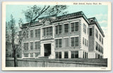 Poplar Bluff Missouri~High School w/Quoins & Cornices~Behind Wall~1928* Bluesky