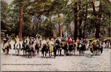 Yosemite Valley CA~Victorian Tourists on Horseback Start for Glacier Point~c1910