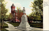 Watertown South Dakota~Court House Square~1899 Co H Soldiers Monument~c1910