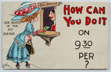 DWIG~How Can You Do It? Pretty Woman at Theatre Box Office~6 Seats in Pit~1910