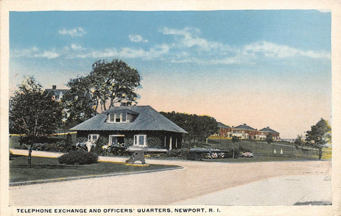 Newport Rhode Island~Telephone Exchange Building~Officers Quarters On Hill~1916
