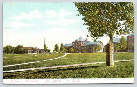 St Louis Missouri~Jefferson Barracks Army Post~Wooden Path~c1910 Postcard