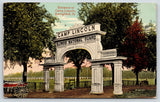 Springfield Illinois~Camp Lincoln~Company Wagon at National Guard Arch~1915