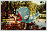 Oakland California~Children's Fairyland~Willie the Blue Whale~1950s Postcard | Refried Jeans Postcards