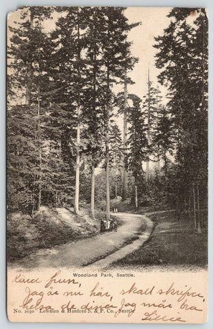Seattle WA Moms & Daughters on Rd Thru Woodland Park~1906 To Bugman in Swedish