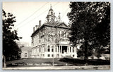 Rockland ME~Victorian Courthouse w/Ionic Columns, Cupola Clocktower RPPC C1950