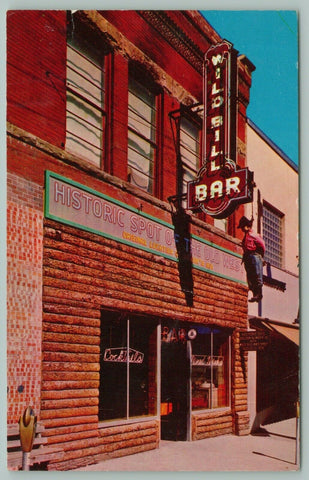Deadwood South Dakota~Wild Bill Bar~Historic Location~Hangman~Neon Sign~1950s